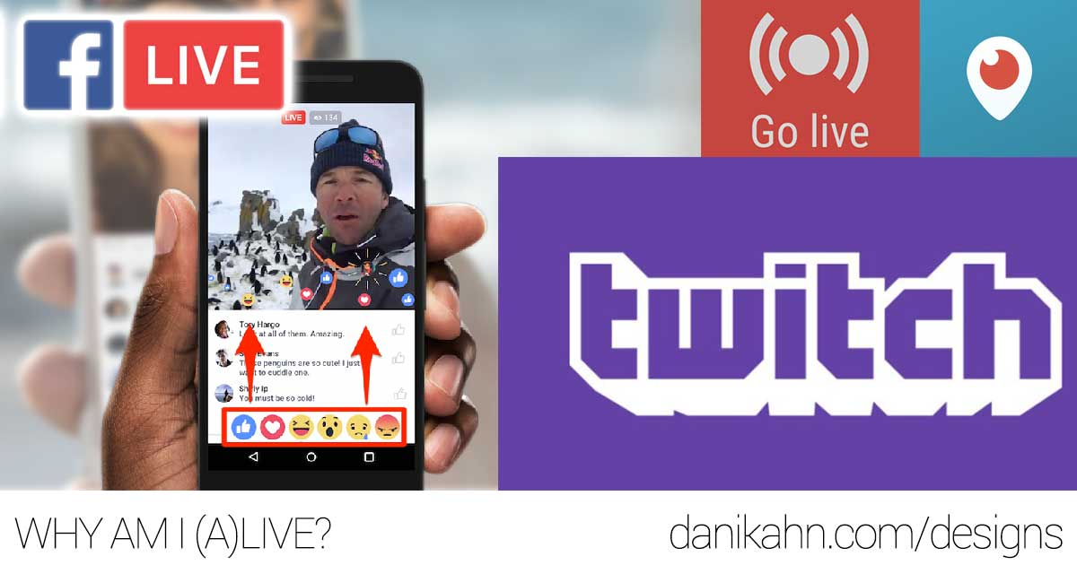 twitch, twitter, facebook live, streaming, live video